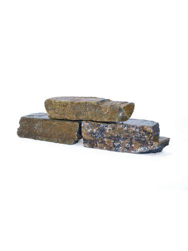 Mauersteine Quarzit nass