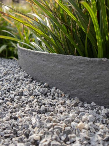 Multi-Edge Rasenkante ECO Rolle 10m Farbe Grau, verlegt